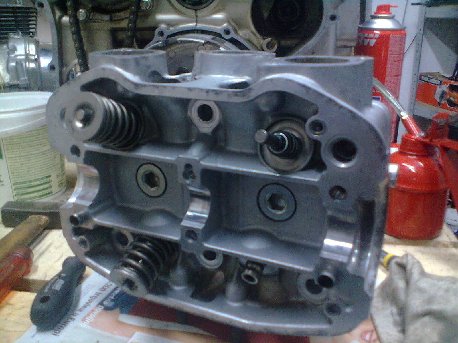 GL1100 engine heads assembly